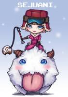 Fan Art LOL Chibi Poro Rider Sejuani by PuddingzZ