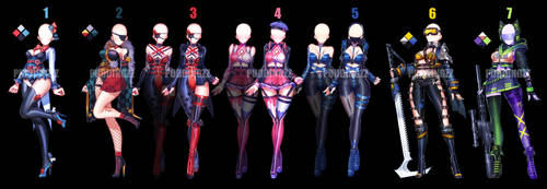 Adoptable outfit 2-4 Setprice [OPEN] by PuddingzZ