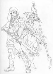 Heroes -sketch- by UnholyPaladinStudios