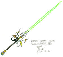 Godfire Dragon Blade by UnholyPaladinStudios