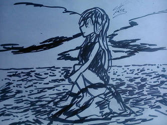 The Girl and the Sea by FerGarcia220