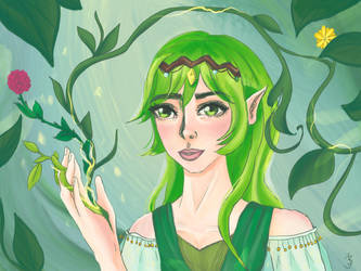 Forest Queen [redraw] by LenaLightwood