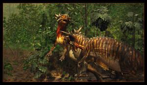 Dinosaur Combat by powowcow