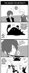 Bigger is better for whacking by ryo-hakkai