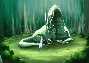 APH - A rabbit and a dragon by ryo-hakkai