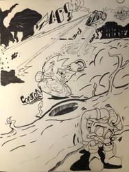 Sonic (Saturday morning cartoon version) fanart by CarltheAmateur