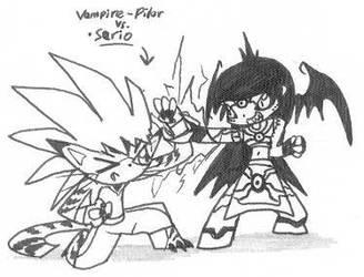 Serio vs. Vampire-Pilar by Kainsword-Kaijin