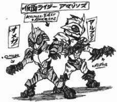 Kamen-Rider Amazons Omega and Alpha by Kainsword-Kaijin