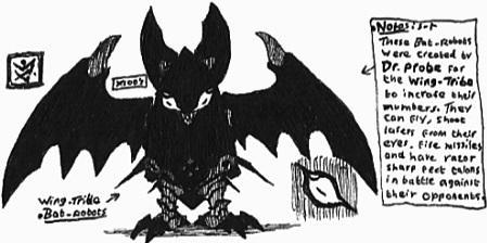 [SHADOW] Wing-Tribe Bat-Robot by Kainsword-Kaijin