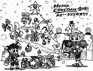 MERRY CHRISTMAS 2018^w^ by Kainsword-Kaijin