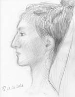 portrait (pencil sketch) by Sillageuse