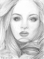 Adele (pencil sketch) by Sillageuse