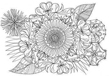Zentangle No. 5 by Sillageuse