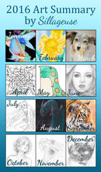 2016 Summary of Art by Sillageuse