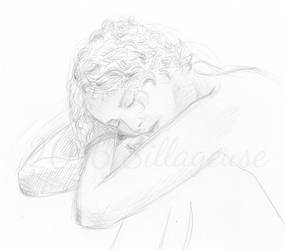 nude drawing class. pose 02 by Sillageuse