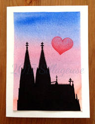 Cologne greeting card by Sillageuse