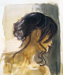 Girl Black Hair by Samstudioworks