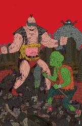 Krang Vs Toxic Avenger by burnay