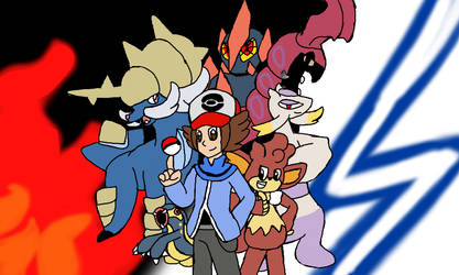 My Pokemon Black team by Klonoahedgehog