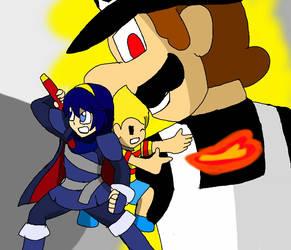 Dragon ball super portrayed by Smash bros by Klonoahedgehog