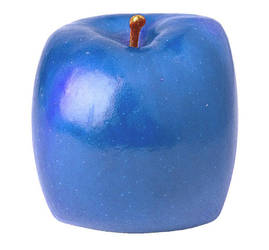 Blue apple cube by One-Winged-Shadow