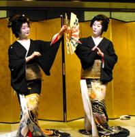 Geisha Fan Dance by DrowElfMorwen