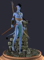 Tentska'tawa :: Navi Warrior by DrowElfMorwen