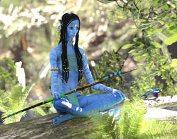 Meditation for the Huntress :: Iray by DrowElfMorwen