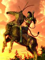 Horse Clan Warrior :: Pa'li Makto by DrowElfMorwen