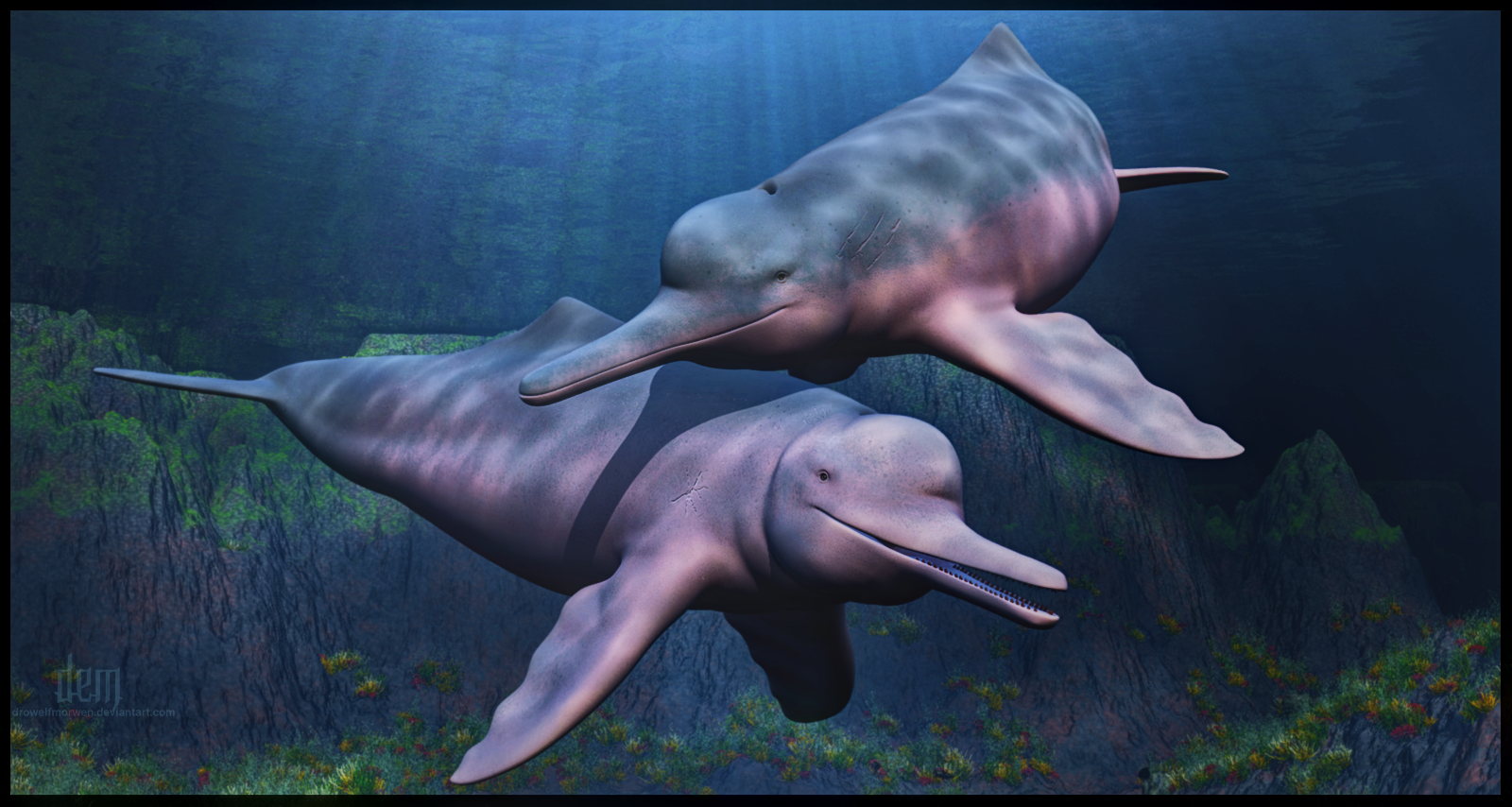 Amazon River Dolphins by DrowElfMorwen