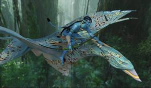 Tentska and Kawte :: Aerial Hunter by DrowElfMorwen