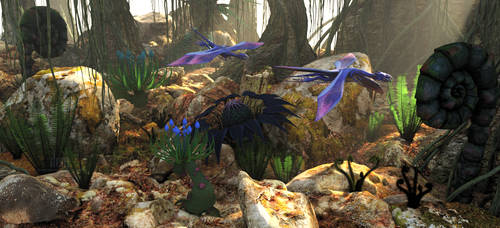 Pandoran Forest :: Scene I by DrowElfMorwen