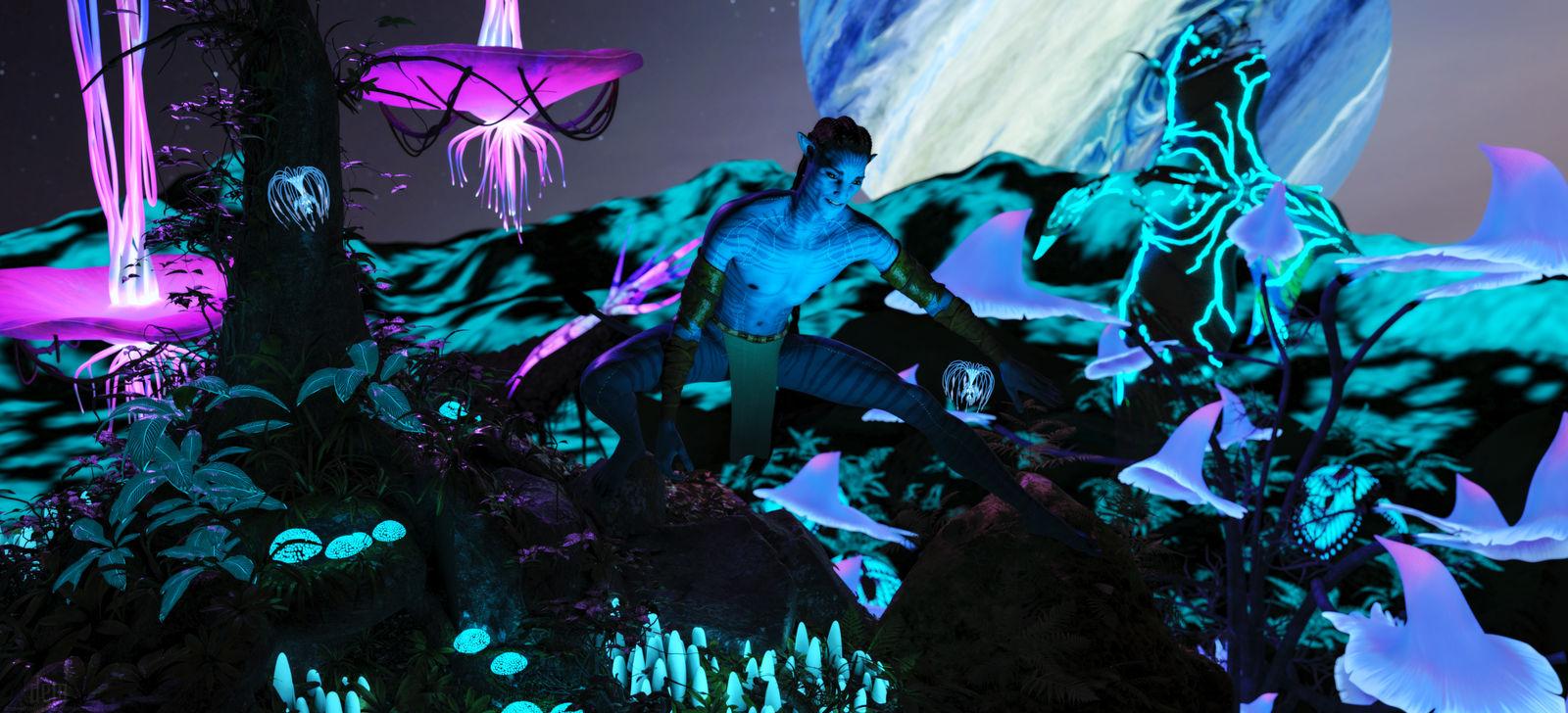 Alec ::  Avatar at Night by DrowElfMorwen