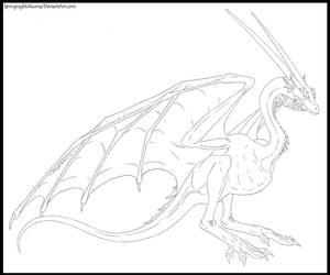 Springnight Wyvernoid Concept Line-Art by SpringnightAkuma