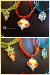Pokemon X Y Starters charms by mmishee