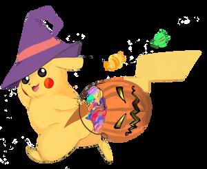 Its Christmas but its Halloween Pikachu by Toushiirou