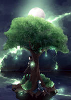 | COMMISH | Lost tree +[SPEEDPAINT] by EdhelSen