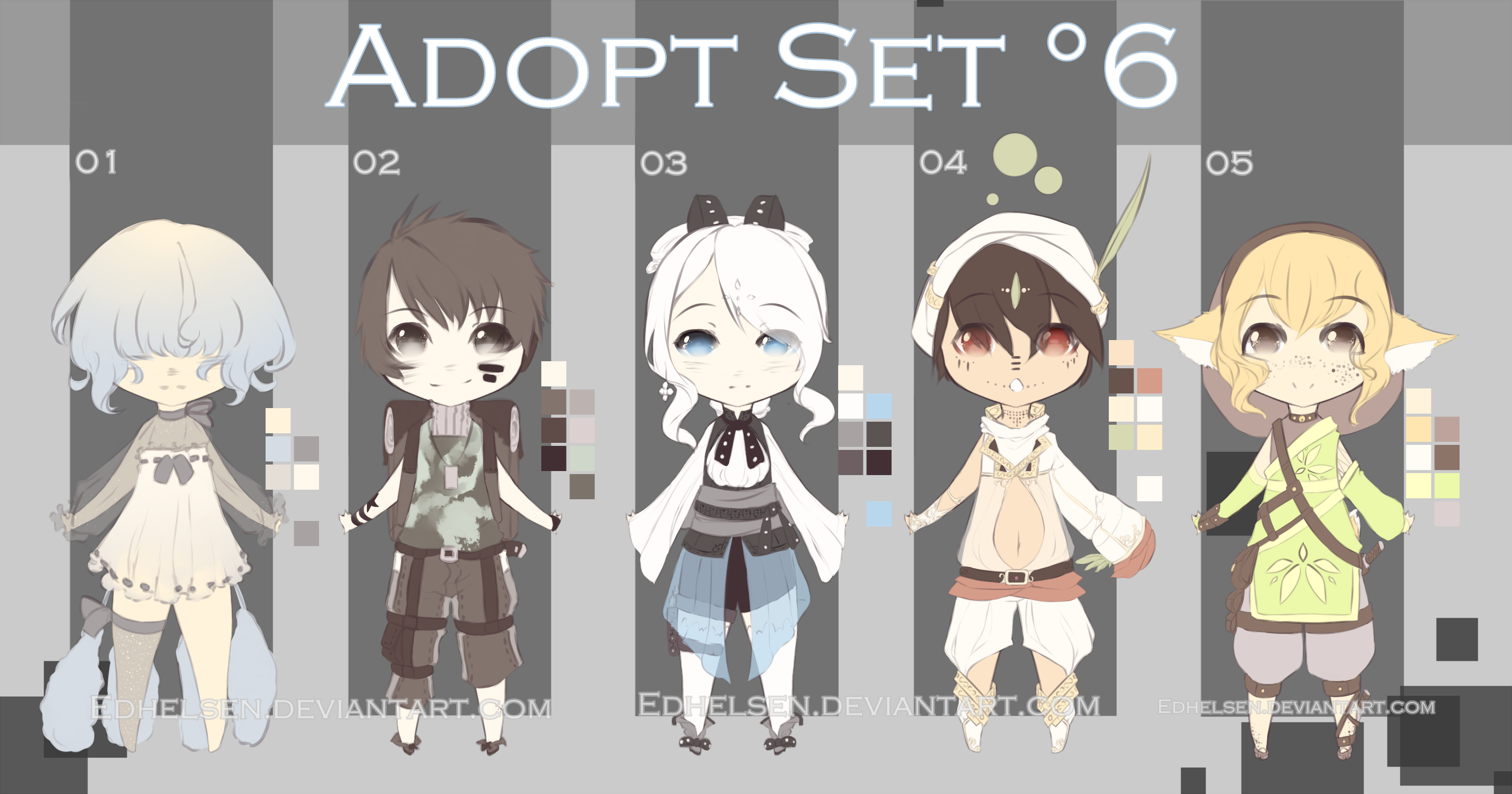 -ADOPT SET'6- OPEN 4/5 by EdhelSen