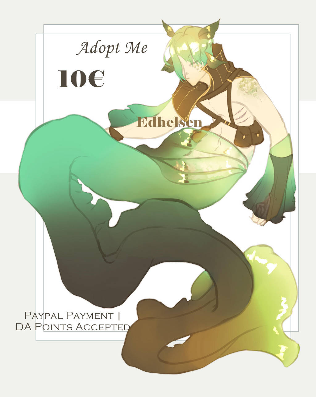 Mermaid adopt II | CLOSED by EdhelSen