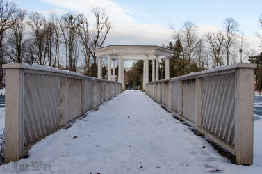 Bridge to pavilion by JoeWei