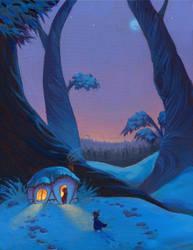 Thumbelina- Winter by fabiolagarza