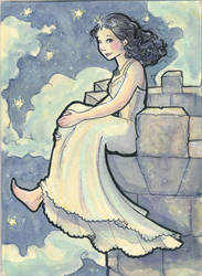Star Postcard by fabiolagarza