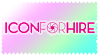 Icon For Hire Stamp by dinosapien