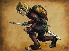 Borin Buckethissel - Halfling Rogue by Lizard-of-Odd