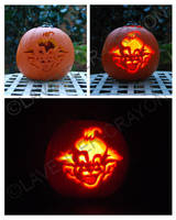 Killer Klown Pumpkin Carving by Lavender-Crayon