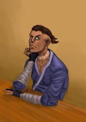 Sketch: Grumpy Sokka ( The Last Airbender) by fedelacelli