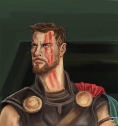 Sketch: Thor by fedelacelli