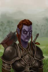 Female Night Elf Warrior by fedelacelli