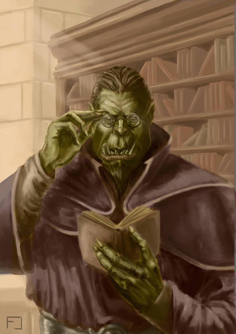 Orc Wizard by fedelacelli