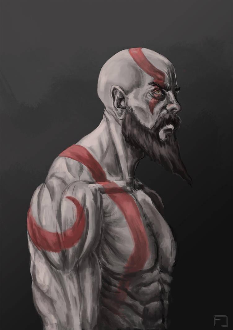 Kratos (God Of War 4) by fedelacelli